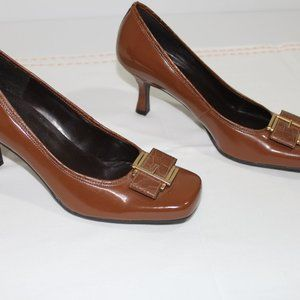 Ginnie High Heeled Brown Shoes Size 8 Women's